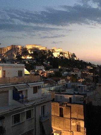 Athos Hotel: Vista desde la terraza