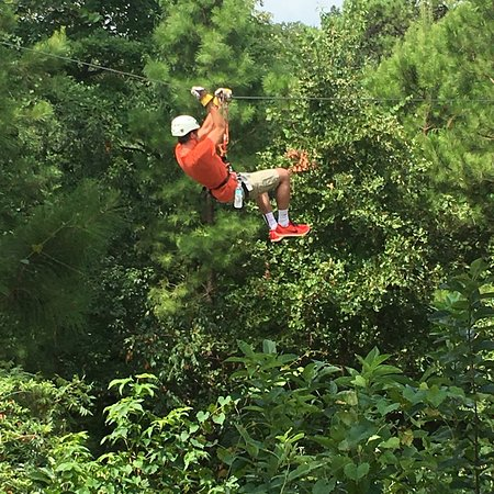 New York Texas Zipline Adventures: Beautiful surroundings!  The kids really enjoyed it!  Only did the 6 line this time. Will defini