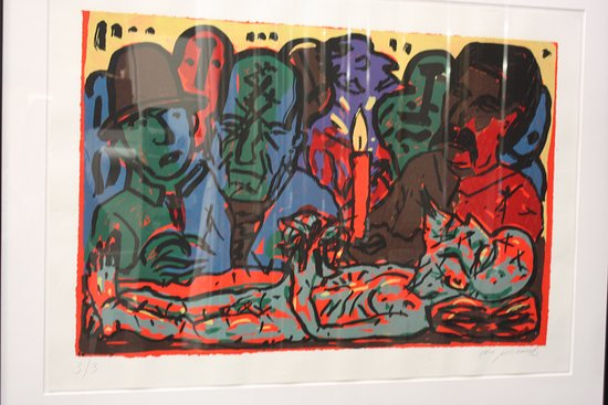 Culver City, Kalifornien: An artist shows his view of Russian history