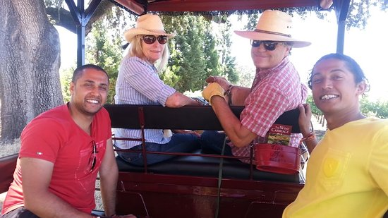 The Wine Carriage: I think we smiled for 5 hours on the tour!