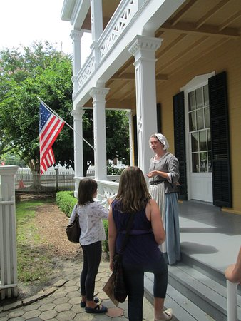 Historic Pensacola Village: Historic Village - Tour: Our awesome tour guide, Vivienne