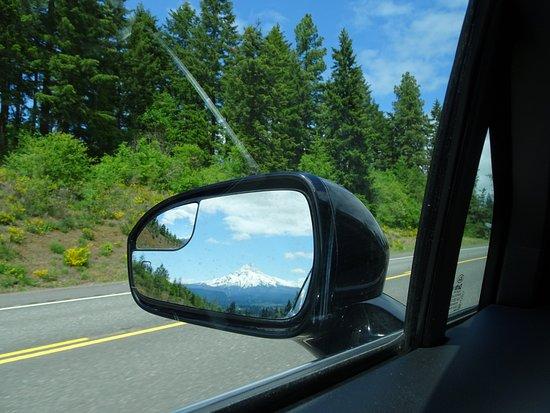 Hood River, OR: Mt Hood in side mirror