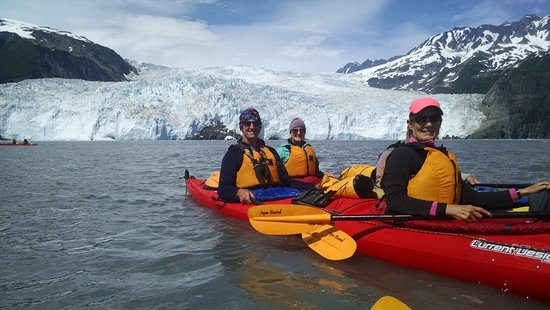 Kayak Adventures Worldwide - Day Trips: At Aialik Glacier, which is 1 mile wide.