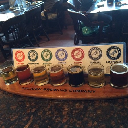 Pacific City, OR: Sampler of 7 different brews for $7 - great deal!