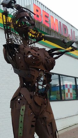 Bemidji, MN: One of the sculptures in front of the hardware co-op
