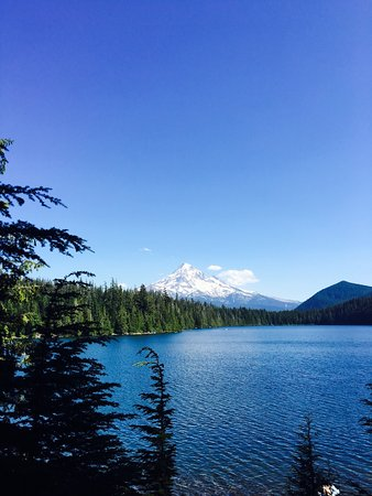 Welches, OR: Mount Hood from Lost Lake in Mount Hood National Forest
