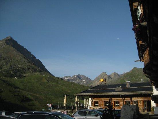 Kuhtai, Austria: Aussicht Terrasse