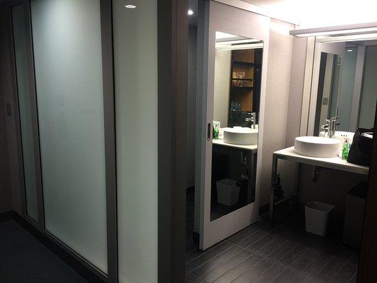 room decor is modern. Area