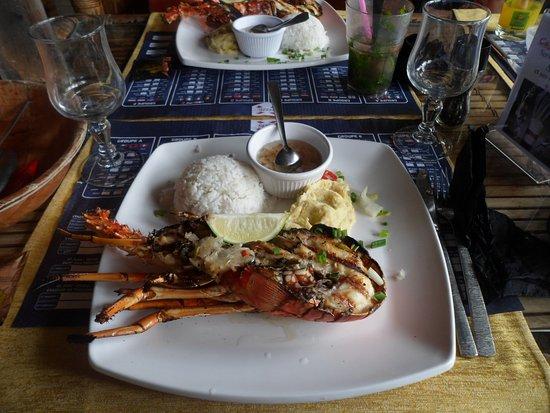 Pointe-a-Pitre, Guadeloupe: langouste grillée