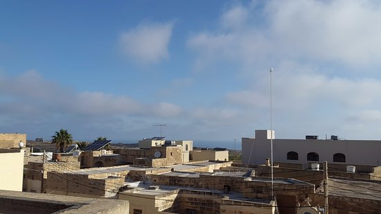 Gharb, Malta: View from the balcony towards the sea