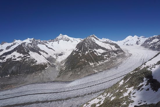 Aletsch Glacier: view from the top of Eggishorn