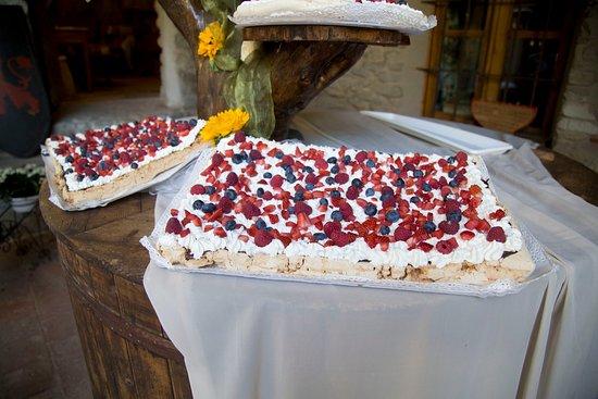 Torta meringa, cioccolato panna e frutti di bosco - Foto ...
