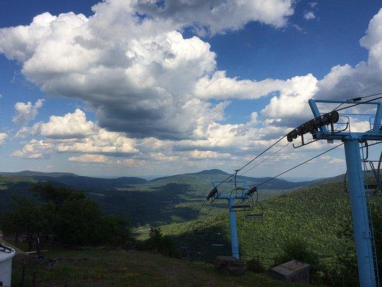 Hunter, estado de Nueva York: view from the lift