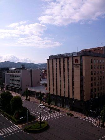 Citadines Karasuma-Gojo Kyoto: View from the balcony - main road