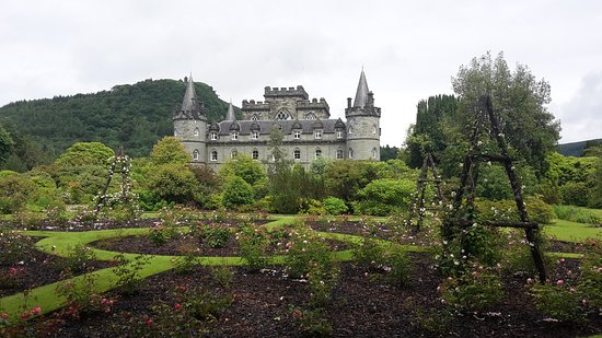 Inveraray, UK: view from the garden