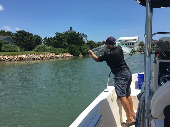Murrells Inlet, Νότια Καρολίνα: Catch-1 knows how to find fish...and will help with cleaning/preparing your catch for dinner.  F