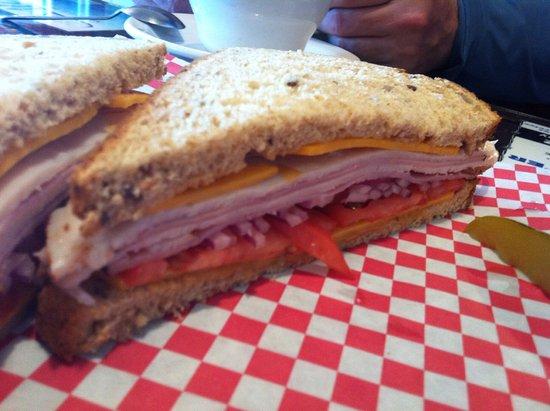 Libby, MT: Turkey and ham sandwich