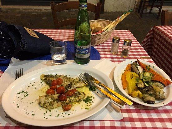 la Montanara: Fish with vegetabels