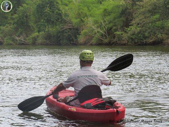 Belize Magnificent Mayan Tours : Kayaking with Bzmtours