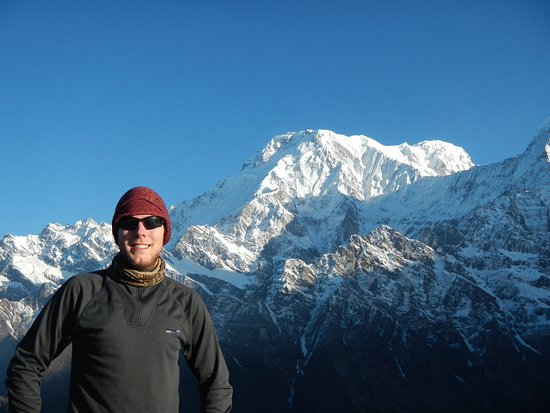 Kathmandu Valley, Nepal: Me on the morning of the ascent to the high point of the Mardi-Himal route (taken 2015)