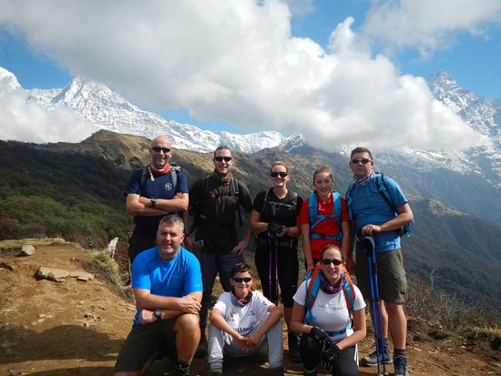 Kathmandu Valley, Nepal: Our trekking group the day before the ascent to the high point of the Mardi-Himal route (taken 2