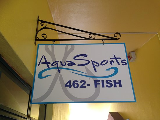 Aquasports: Look for our Sign on the 2nd floor.