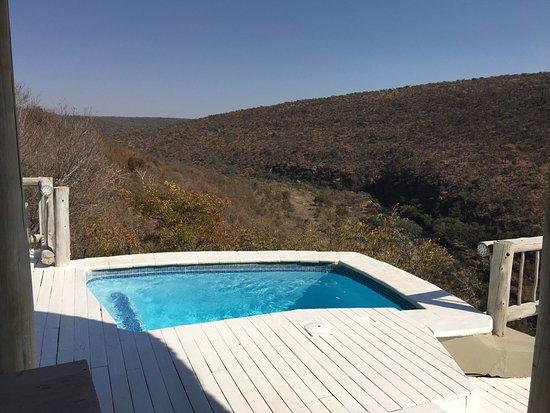 Welgevonden Game Reserve, Sør-Afrika: Plunge pool view