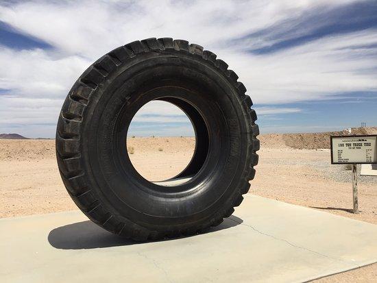 Boron, CA: The BIG tire exhibit.