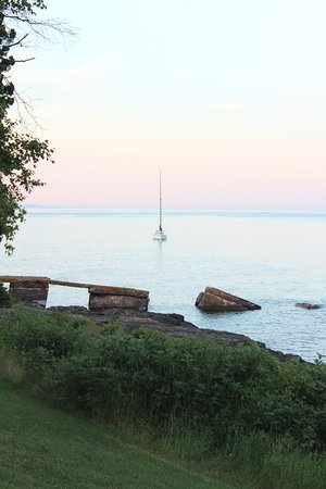 Tofte, MN: View of the lake from our room