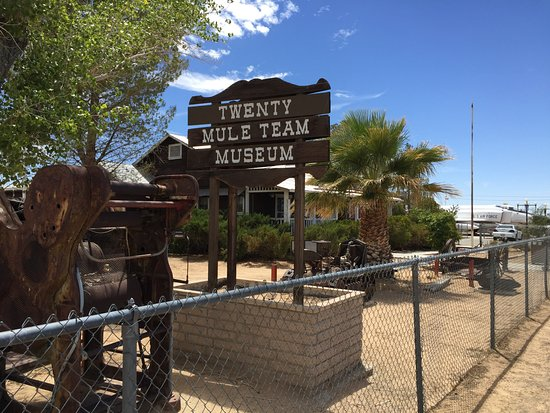 Boron, CA: The museum exhbits are partly outside.