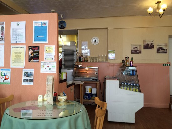 Callington, UK : Our table and the counter
