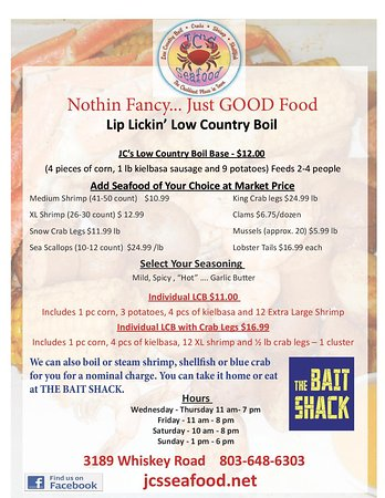 Aiken, SC: Order our delicious Low Country Boil for take out or dine in!