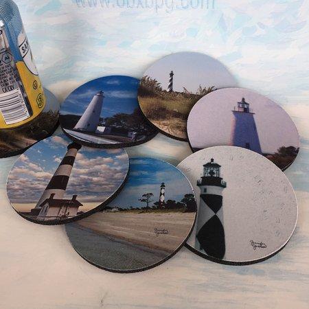 Hatteras Island, Carolina do Norte: Individually made coasters from original art