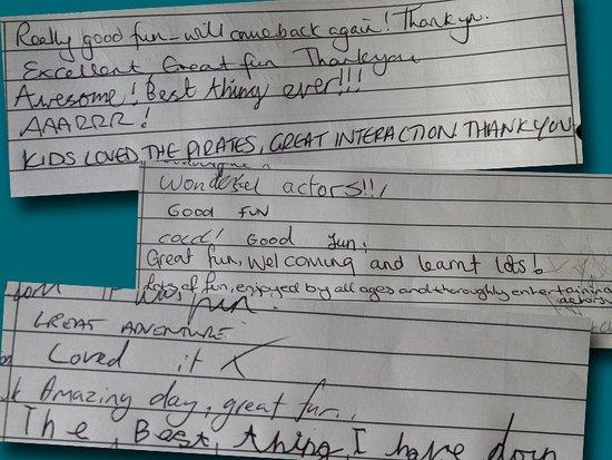 نيوكواي, UK: Visitor comments left in logbook!