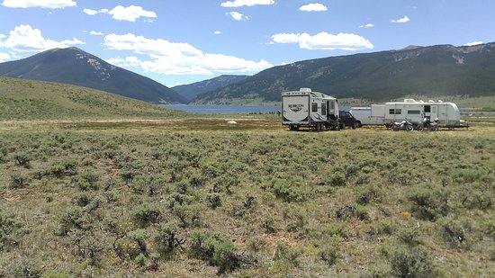 Gunnison, Colorado: Dispersed camping with a view of Taylor Reservoir