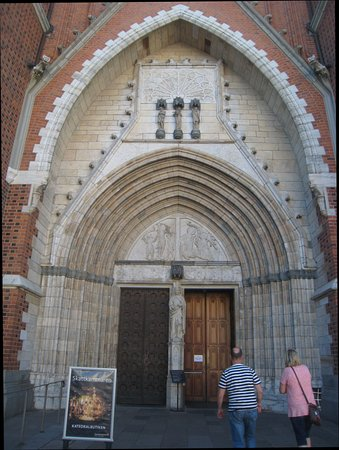 Uppsala, Sweden: Imposing stone entrance
