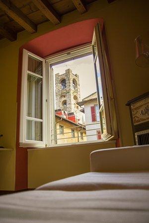 Hotel Piazza Vecchia: vista dal bar
