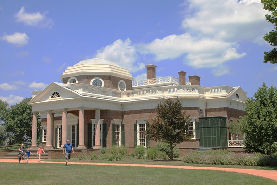"""Charlottesville, VA: The west portico, the """"nickel"""" view"""
