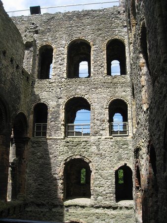 Rochester Castle from the inside