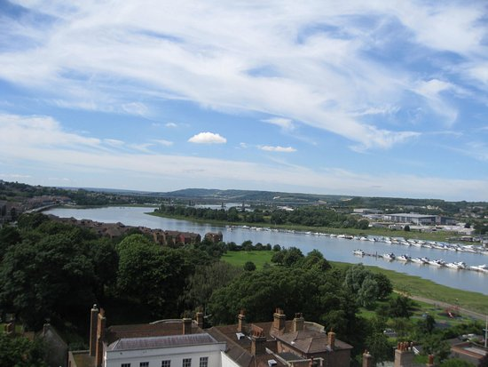 A view of the Medway from Rochester Castle's battlements