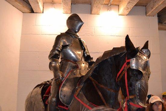 Château Castelnaud : cheval empaillé (j'apprécie guère!)