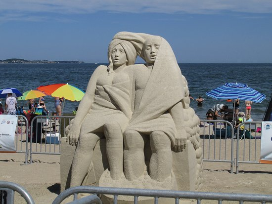 "Revere Beach Sand Sculpture 2016 "" Always Connected"""