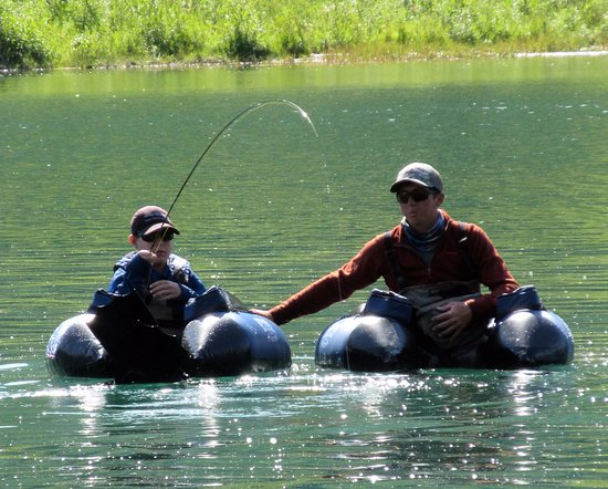 Cooper Landing, AK: Super fun float tubing to catch even more fish on this remote lake