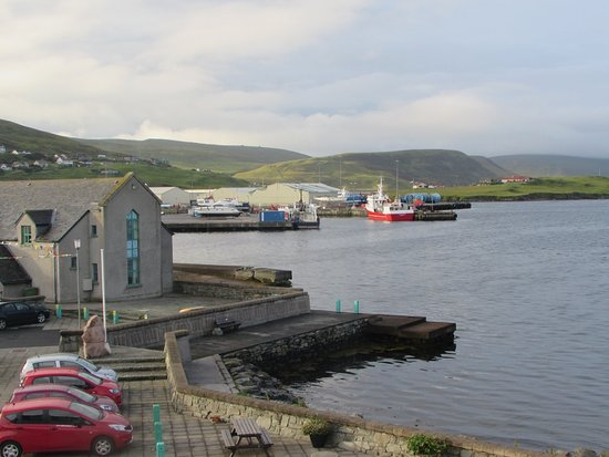 View from room 301 Scalloway Hotel