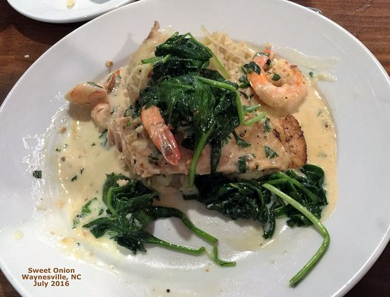 Waynesville, Carolina del Norte: Salmon, Shrimp, Spinich