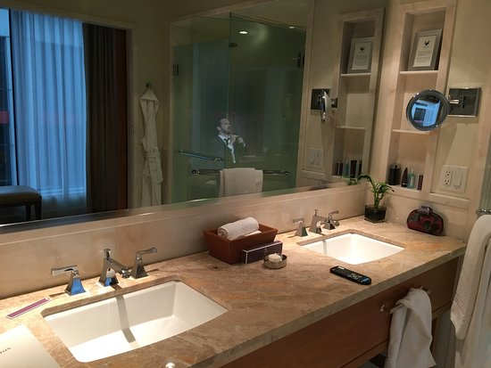 The Ritz Carlton Toronto Bathroom With TV In Mirror