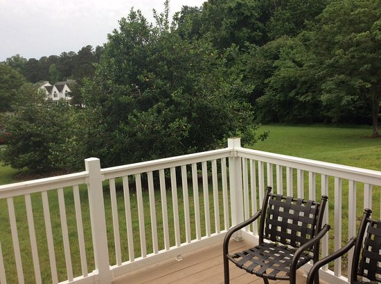 The Historic Powhatan Resort: Looking from the outside deck area.