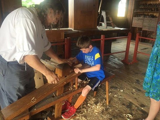 Pittsfield, MA: Learning to plane wood