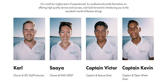 West End, Honduras: Roatan Divers staff