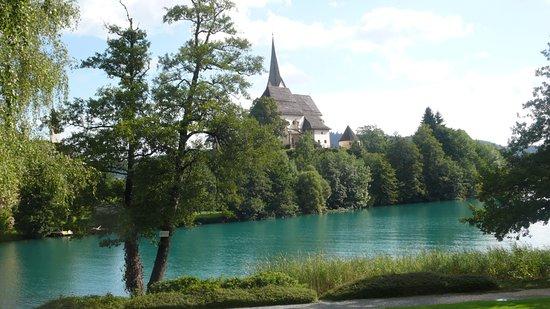 Maria Worth, Avusturya: Kirche auf der Insel